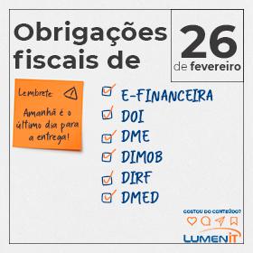 Obrigações Fiscais para 26 de fevereiro